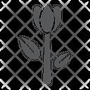 Tulip Floral Plant Icon