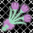 Tulips Flower Botanical Icon