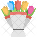 Tulips Bouquet Flowers Icon