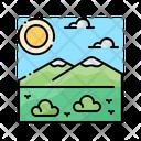 Tundra Landscape Nature Icon