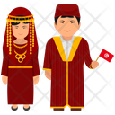 Tunisian Outfit Tunisian Clothing Cultural Dress Icon