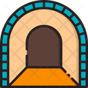 Tunnel Mine Gold Mining Icon
