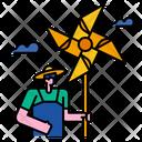 Turbine Paper Sky Wind Icon
