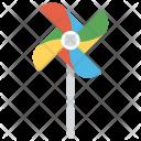Pinwheel Turbine Paper Icon