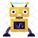 Turing Test Machine Intelligence Robot Testing Icon