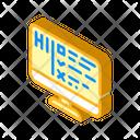 Turing Test Isometric Icon