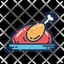 Turkey Chicken Plate Icon