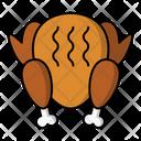 Turkey Thanksgiving Food Icon