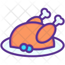 Turkey Thanksgiving Meat Icon