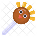 Sweets Candy Turkey Cake Pops Icon