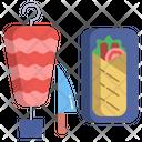 Turkish Doner Kebab Kebab Shawarma Icon