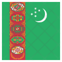 Turkmenistan National Country Icon