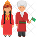 Turkmenistan Couple Turkmenistan Outfit Turkmenistan Attire Icon