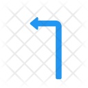 Turn Left Direction Icon