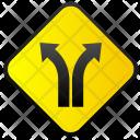 Turning Ways Traffic Icon