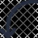 Turn Down Arrow Icon