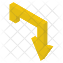 Turn Down Arrow Icon
