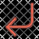 Turn Down Left Icon