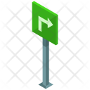 Turn Street Sign Icon
