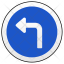 Turn Left Sign Icon