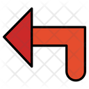 Turn Left Reply Left Icon