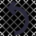 Turn Left Arrow Icon