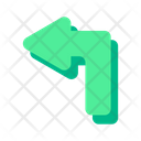 Turn Left Pointer Arrow Icon