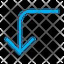 Turn Left Down Icon