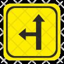 Turn Left Road Icon