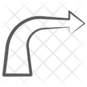 Turn Right Right Bend Arrowhead Icon
