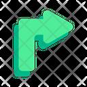 Turn Right Pointer Arrow Icon