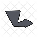 Turn Right Arrow Icon