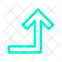 Right Turn Up Icon