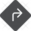 Turn Sign Board Sign Board Right Turn Sign Icon