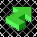 Arrow Turn Up Icon