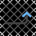 Turn Up Arrow Icon