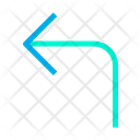 Turn Up Left Icon