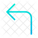 Left Turn Turning Icon
