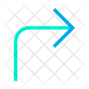Right Up Turn Icon