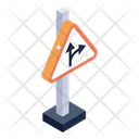 Road Board Sign Board Turning Point Icon