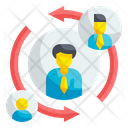 Turnover Employee Management Icon
