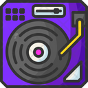 Turntable Edm Music And Multimedia Icon