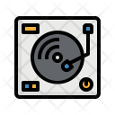Turntable Dj Music Icon