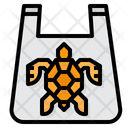 Turtle In Plastic Bag Icon