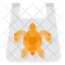 Turtle In Plastic Bag Icon