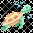 Turtle Sea Aquatic Animal Aquarium Icon