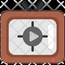 Quarantine Stayhome Tv Monitor Icon
