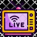 Live Tv Tv Screen Icon