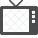 Television Entertainment Device Technology Icon
