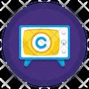 Tv Broadcast Copyright Icon